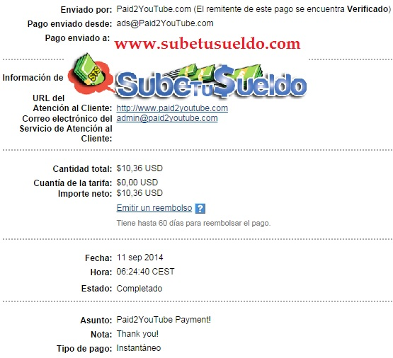 pago paid2youtube