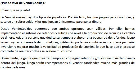 faq vendecookies