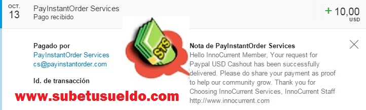 pago de innocurrent