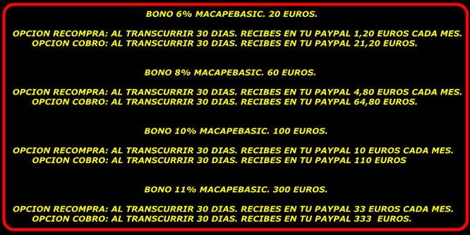 bonos macapebasic